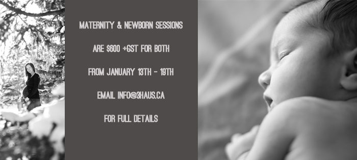 .Maternity and Newborn Session Special.
