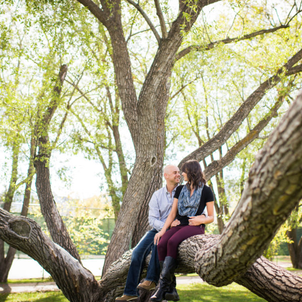 Prince's Island park engagement photos
