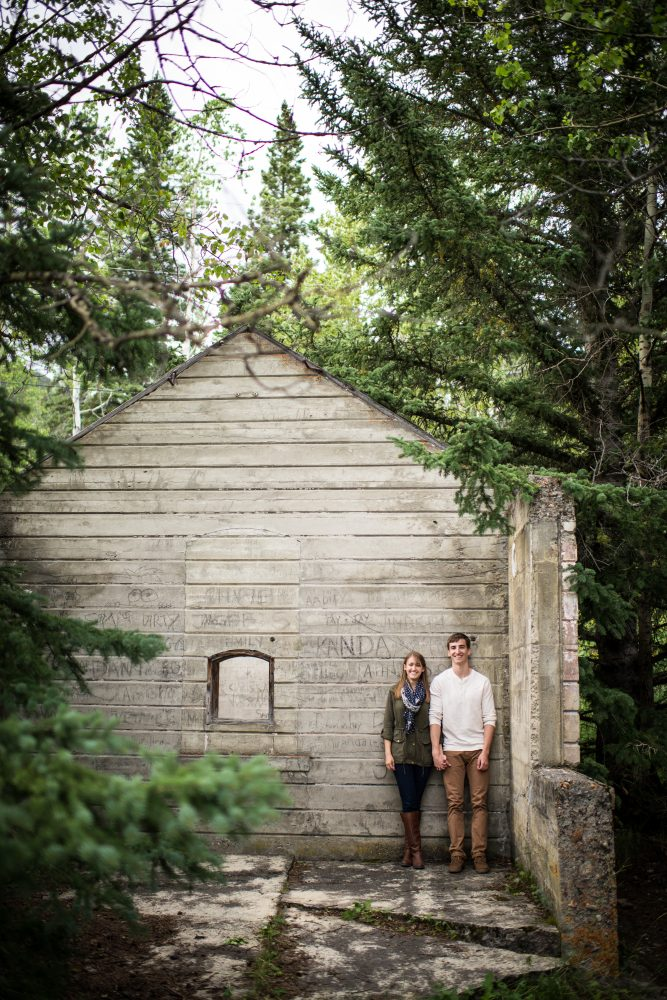 Banff Ruins make for a stunning back drop for this creative engagement session | 3Haus Photographics