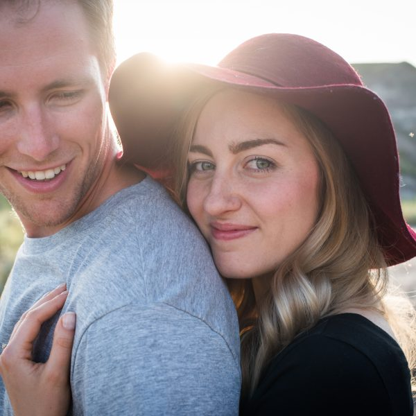 A stunning portrait of a bride and groom during their engagement photos   3Haus Photographics