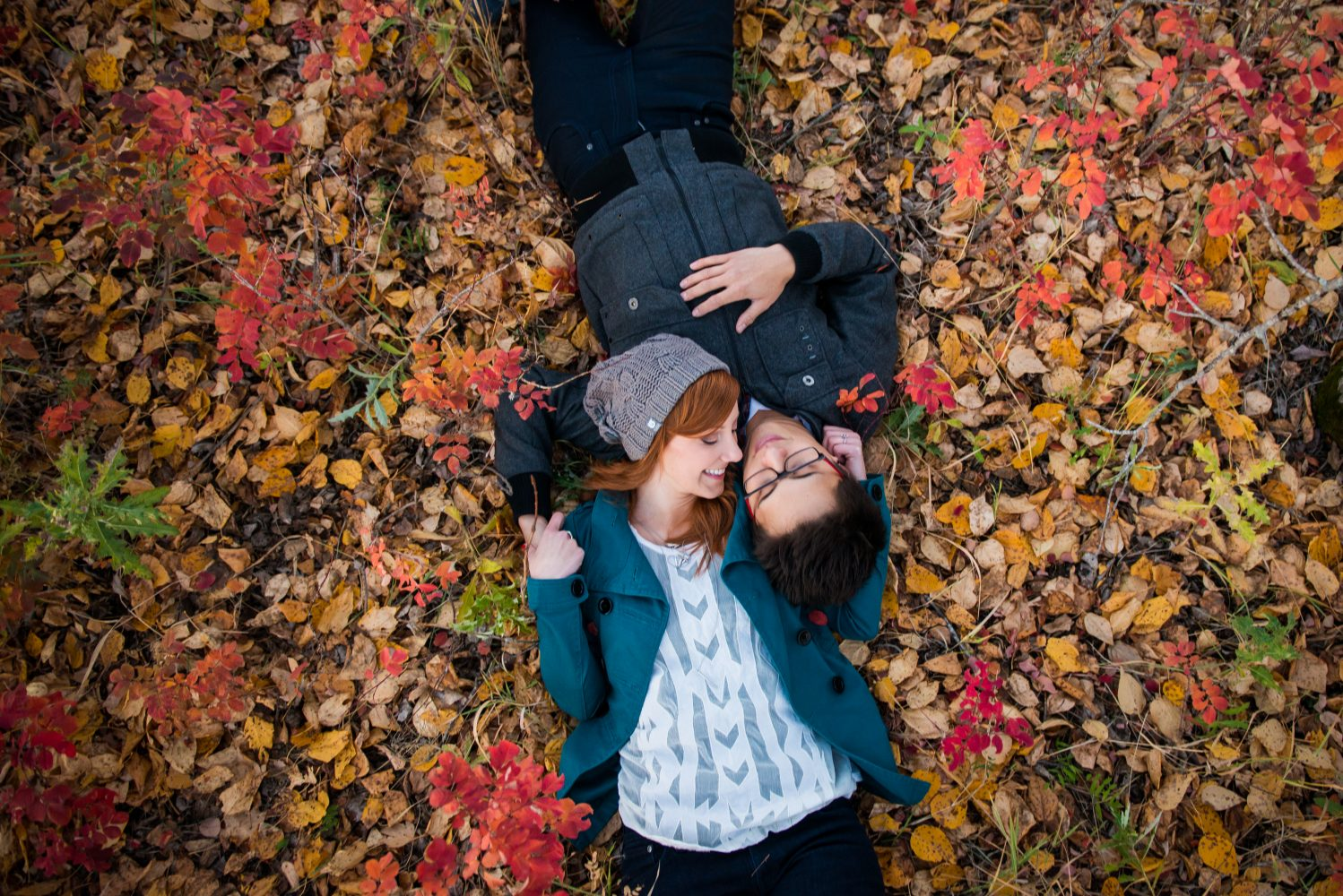 Beautiful autumn colors and a beautiful couple for their Engagement session | 3Haus Photographics