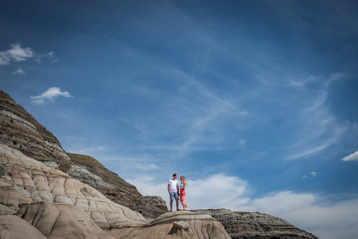 Stunning image from the Badlands in Central Alberta during an amazing engagement shoot |3Haus Photographics