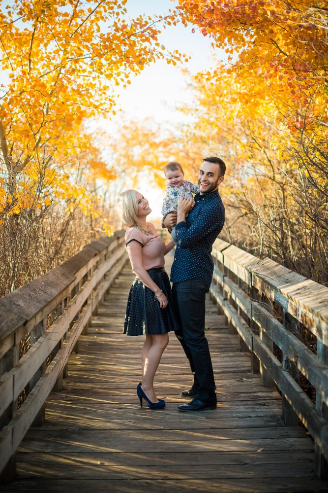 A stunning fall family session with vibrant autumn colors and a stunning family | 3Haus Photographics