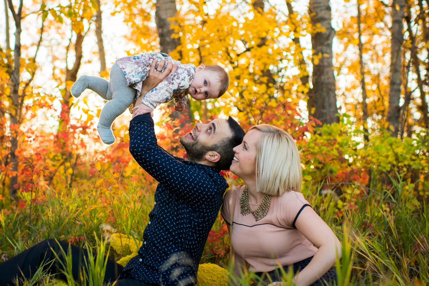Beautiful and stunning fall family session in Strathcona Science Park, Edmonton Alberta | 3Haus Photographics
