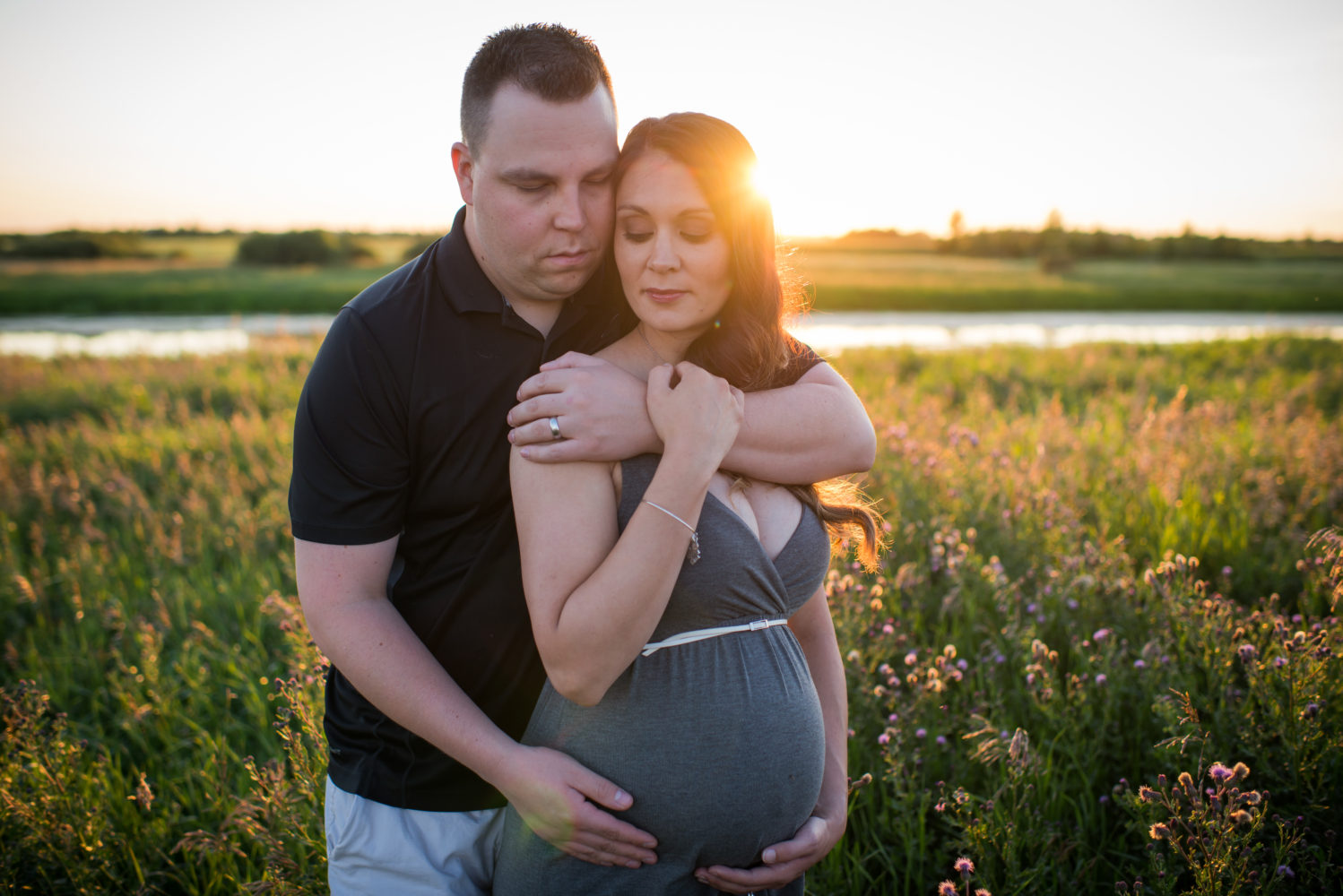 Intimate Maternity session at Lois Hole Provincial Park | 3Haus Photographics