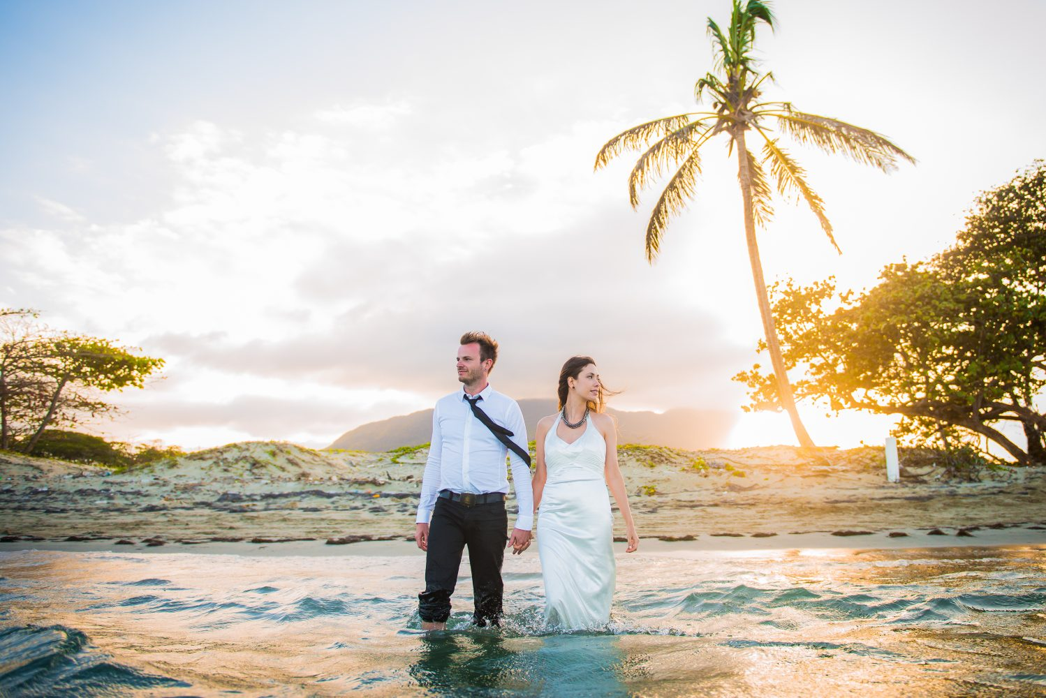 A beautiful ocean sunset in the Dominican Rebublic for the Bride and Grooms Destination Wedding | 3Haus Photographics