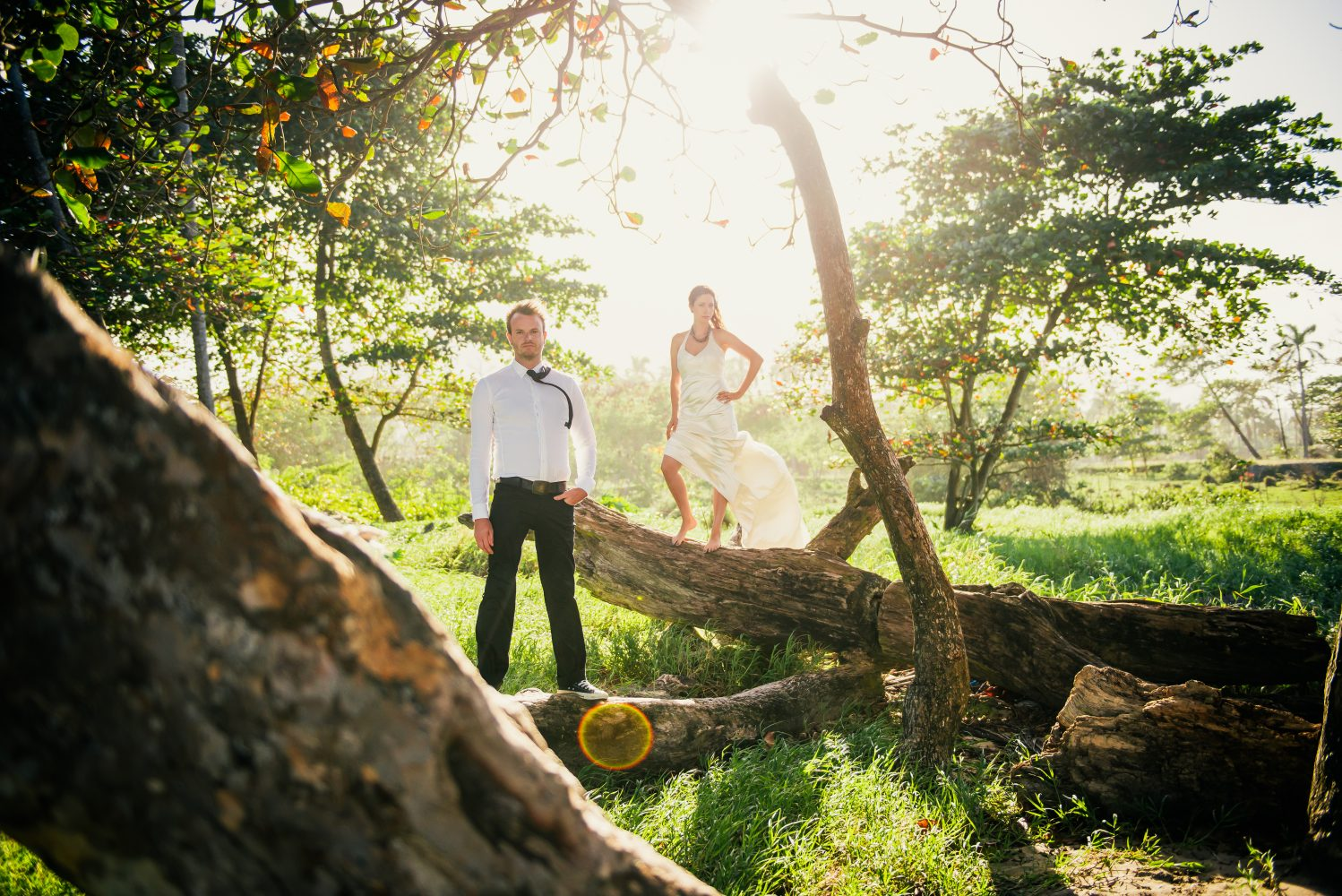 A sunfilled day after session in the Dominican Republic with the Bride and Groom | 3Haus Photographics