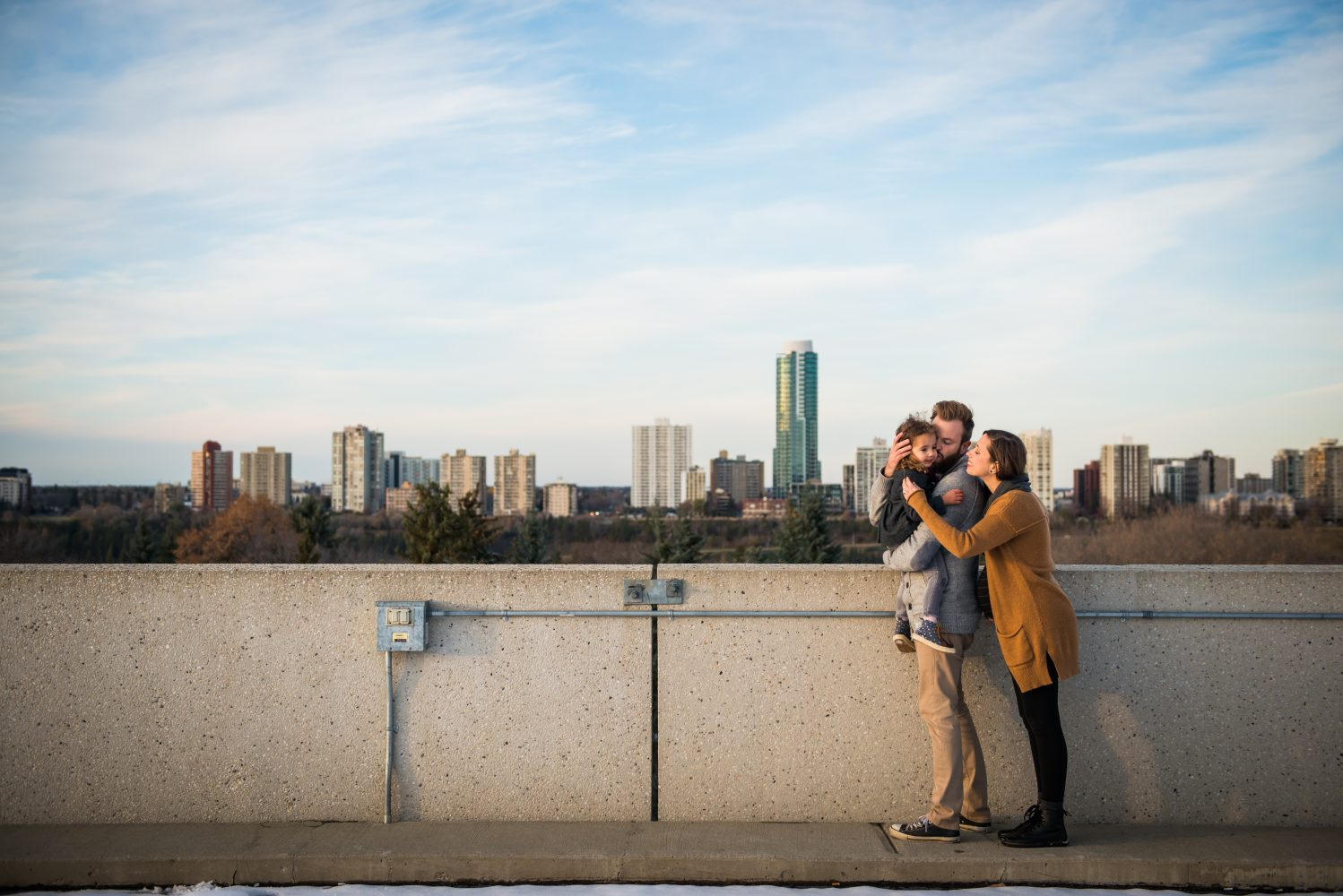 The Edmonton City Skyline and an adorable family photography session | 3Haus Photographics