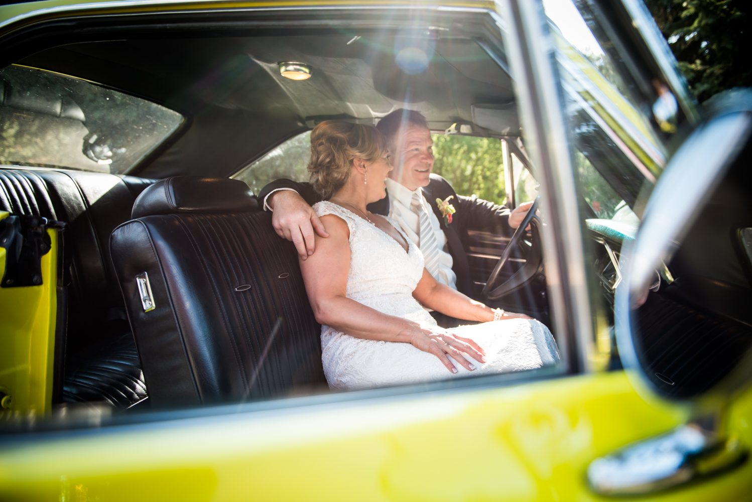 A vintage car gifted to her groom and some sun soaked images of the newly married couple in it | 3Haus Photographics