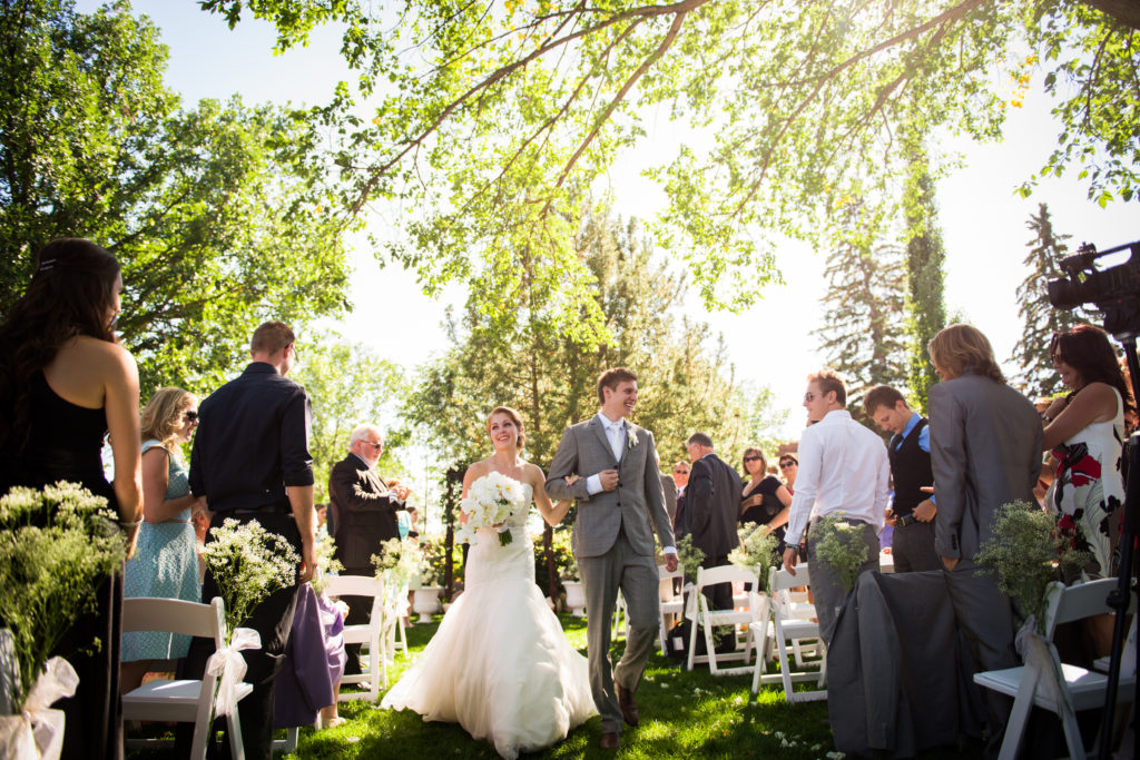 Edmonton Garden Ceremony at Con Boland gardens, Summer Wedding, Edmonton Alberta | 3Haus Photographics