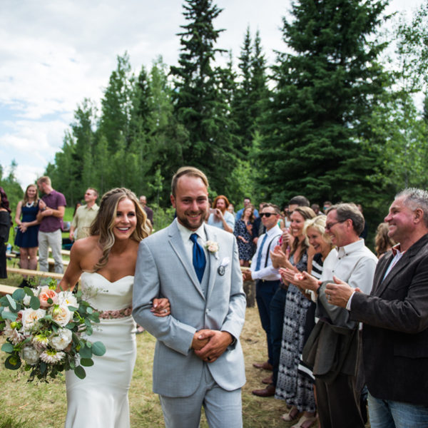 Excited bride and groom, alberta country wedding, Farm wedding ceremony, stunning wedding ceremony, Calyx floral design, 3haus photographics