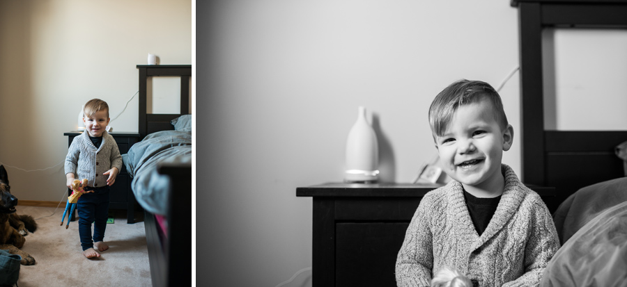 In home Edmonton lifestyle newborn session by 3Haus Photographics