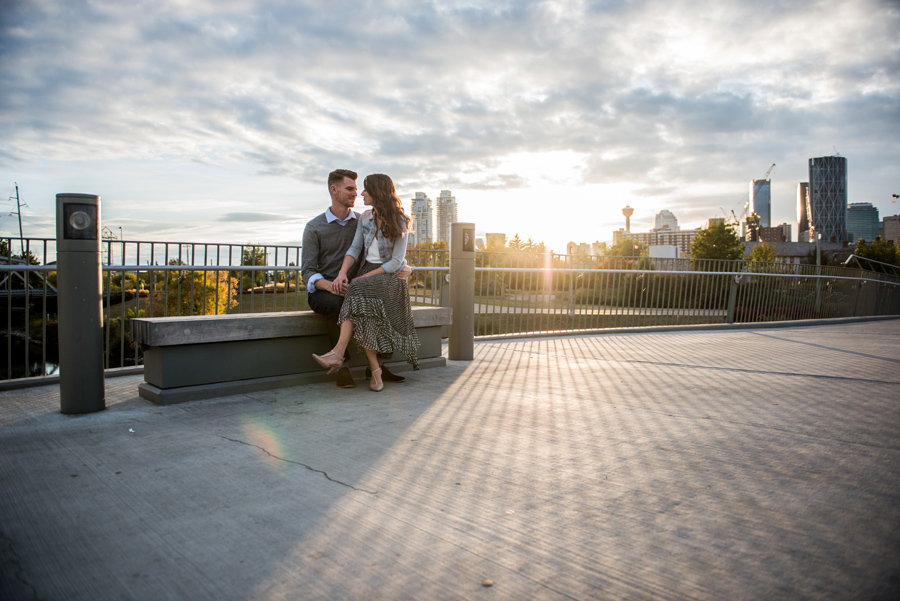 YYC Inglewood engagement session at Gravity Expresso and Wine bar with 3Haus Photographics