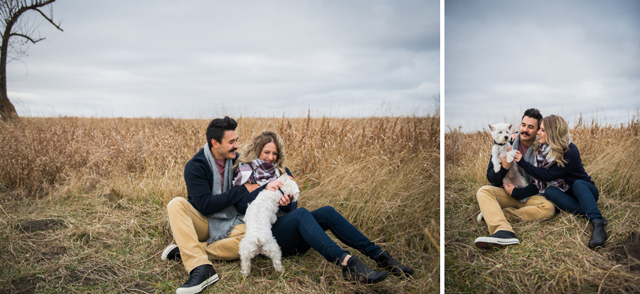 Edmonton engagement photographer, Fall Engagement Photos, Pet Engagement Photographer, Intimate Engagement Photographer, 3Haus Photographics